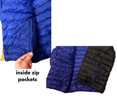 Heavy Weight Puffy Jacket with Hood and Zip Pockets Men's