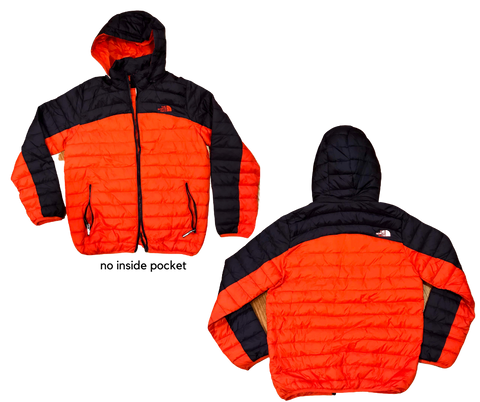 Mid Weight Puffy Jacket with Hood and Zip Pockets Men's