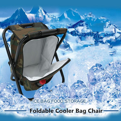Backpack Chair with Cooler Bag