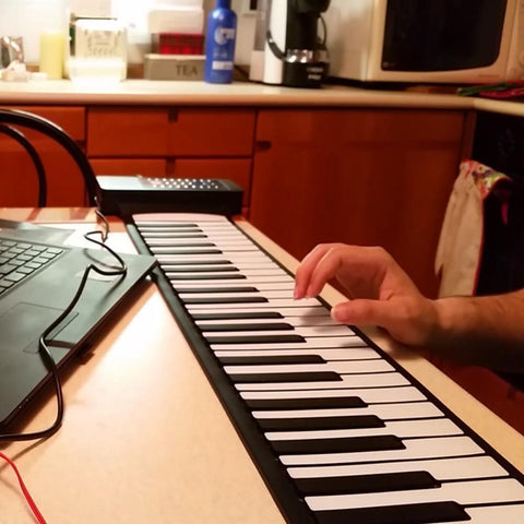 Image of Portable Roll Up Piano Keyboard