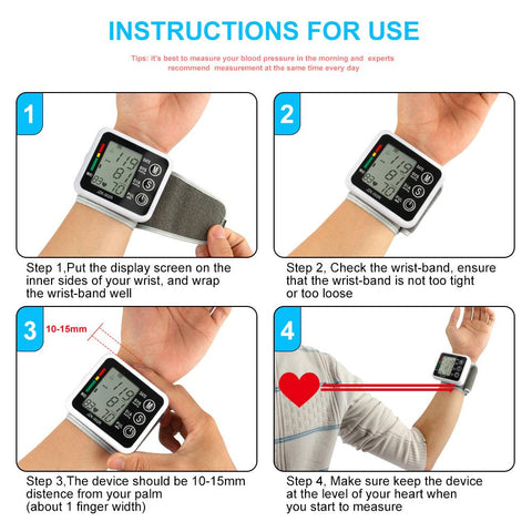 Image of Wrist Blood Pressure Monitor