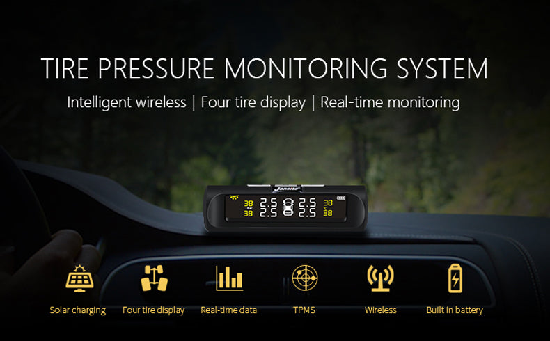 Wireless Solar Powered Tire Pressure Monitoring System