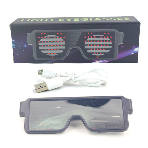 Image of Flash Rechargeable Luminous LED Light Glasses