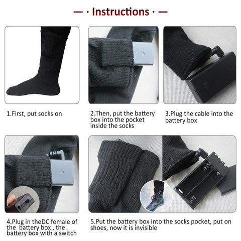 Battery Powered Elastic Heated Socks