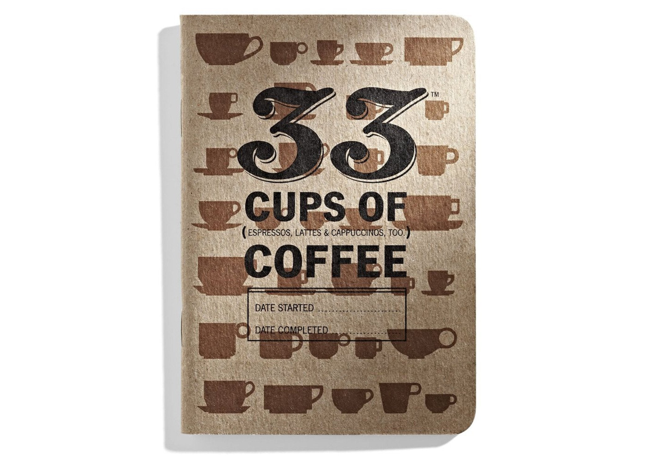 33 Cups of Coffee: Tracker Journal by 33 Books Co.
