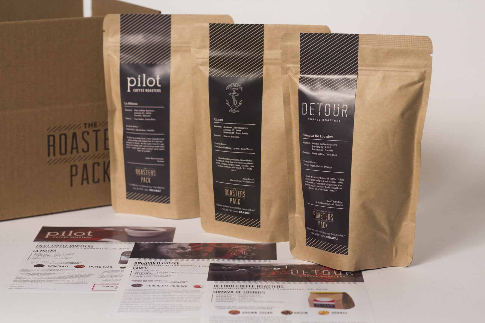 3 x 4oz The Roasters Pack (Dark Option) - 6 Issues