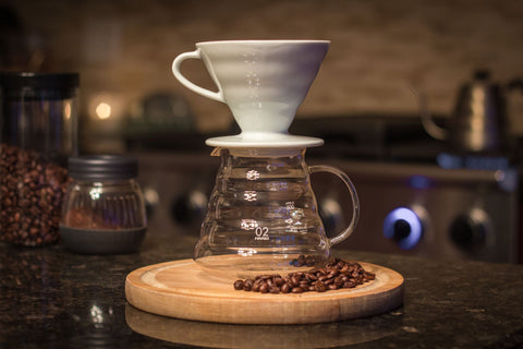 V60 Range Server with the V60 Ceramic Dripper