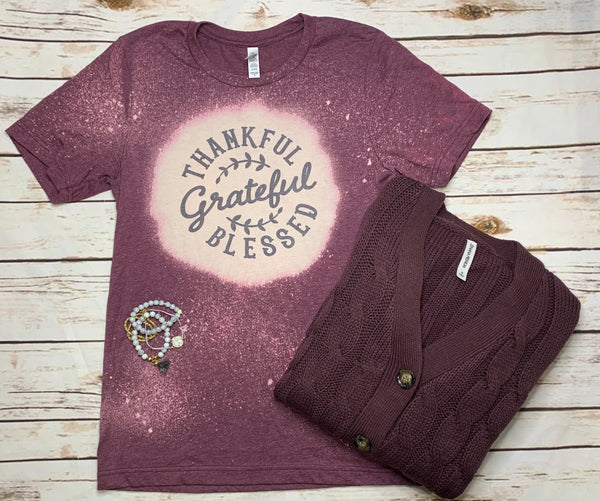 Thankful Grateful Blessed Graphic Tee
