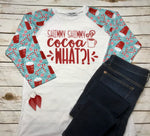 Cocoa What Graphic Henley Tee