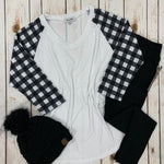 A Touch of Plaid Raglan Tee