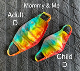 Tie Dyed Reusable Cotton Masks - dyed in house