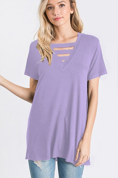 Lavender Fields Short Sleeve Top