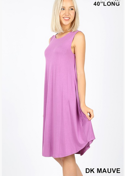 Meet Me Midi Day Dress - Dark Mauve