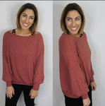 Phierce and Waffley Top in Marsala