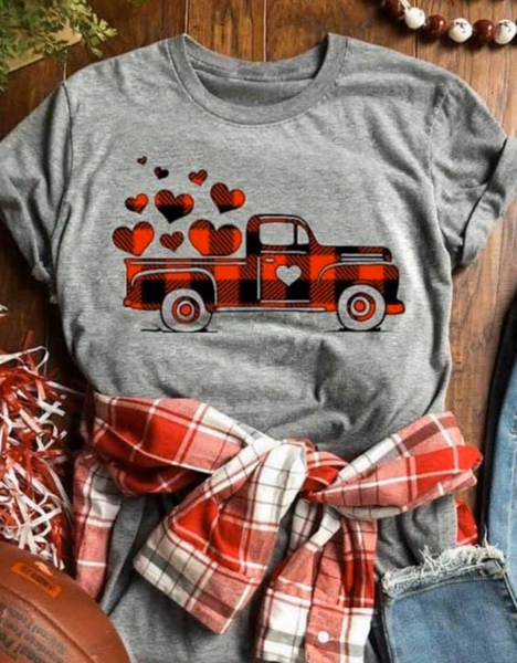 Buffalo Plaid Vintage Truck Graphic T