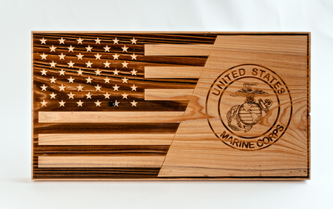 At The Land - Custom American Flag Piece