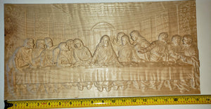 "The Last Supper - Curly Maple, 18"" by 9"""