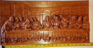 "The Last Supper Alder, 21"" by 10.5"""