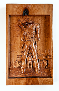 """The Duel"" - Cowboy Wood Wall Art"