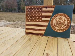 "Celebrate Our Armed Forces Plaque - Painted - 30"" by 20"""