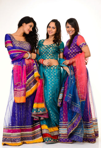 They Can Just Follow A Particular Color Theme Based On Your Wedding Colors Or Have Similar Fabric Cuts And Styling For Great Effect Indian Bridesmaid