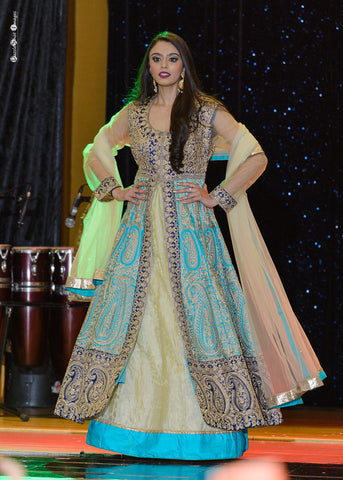 Indo-Western Gown Indian Lehenga