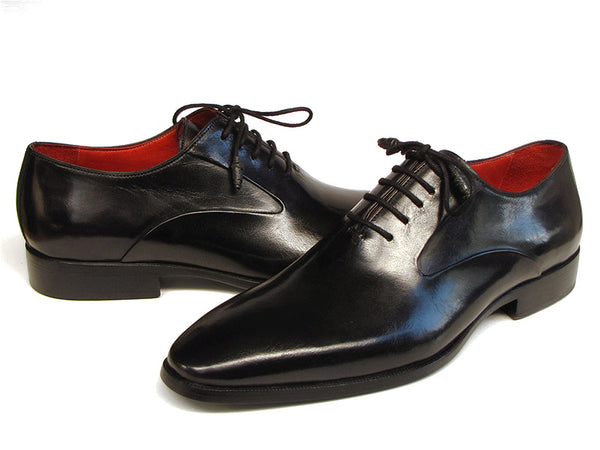 Paul Parkman Men's Black Oxfords Leather Upper and Leather Sole Shoes (Id#019)