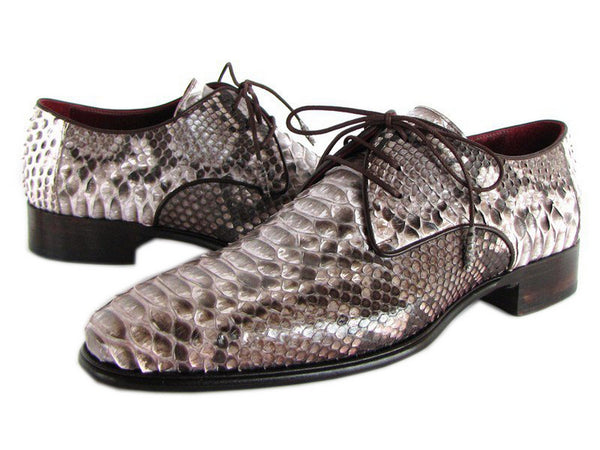 Paul Parkman Men's Natural Genuine Python Derby Shoes (Id#0787Snk)