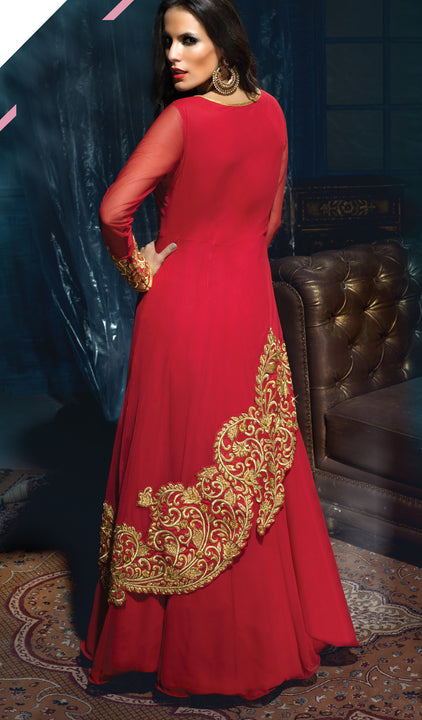 Sizzling Beauty Red Anarkali
