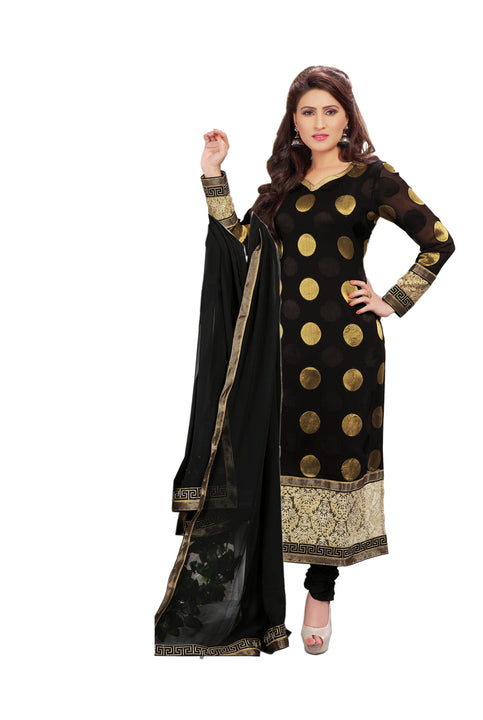 Stunning Black and Gold Kurti Churidar
