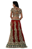 Magnificient Red and Gold Lehenga Choli