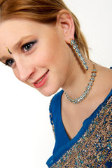 Swarozki Blue Necklace with Earrings Set