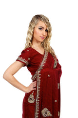 Lady in Red Sari