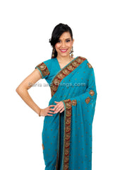 Blue Wedding Sari
