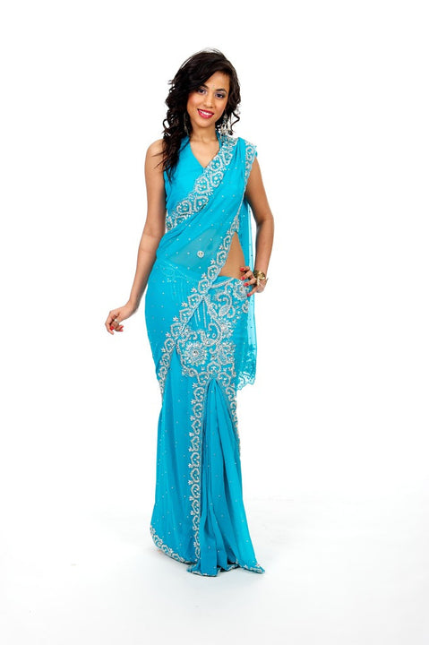 Dazzling Diamonds Ready-Made Sari