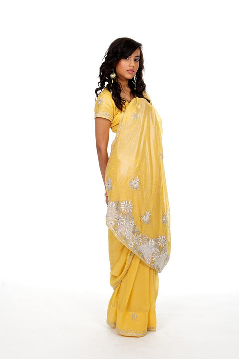 Pretty Sunflower Sari