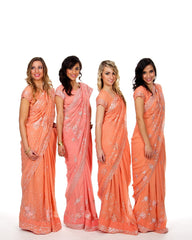 Matching Bridesmaid Saris