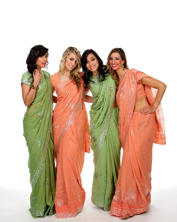 Precious Pastel Green Bridesmaid Sari