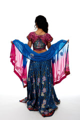 Rich Blue & Pink Lehenga Choli