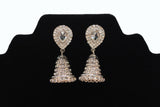 Silver Diamond Bells Jumkha Earrings