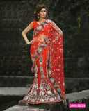 Sensational Red Bridal Lehenga