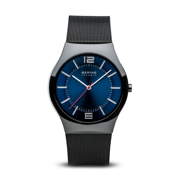 BERING Ceramic Slim Watch With Scratch Resistant Sapphire Crystal 32039-447. Designed In Denmark