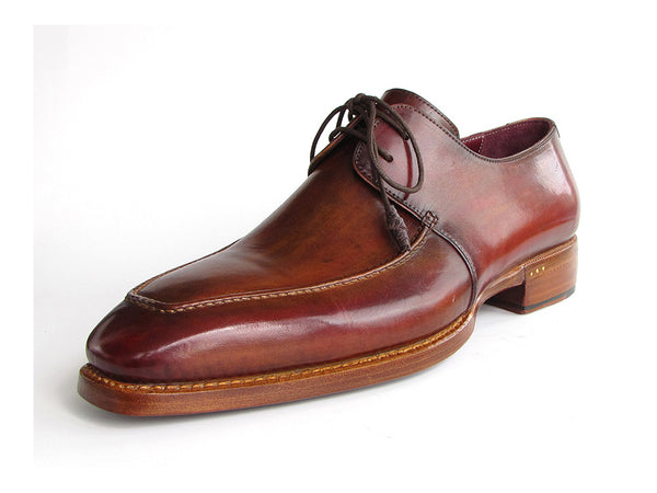 Paul Parkman Goodyear Brown Welted Square Toe Apron Derby Shoes (Id#322A7)