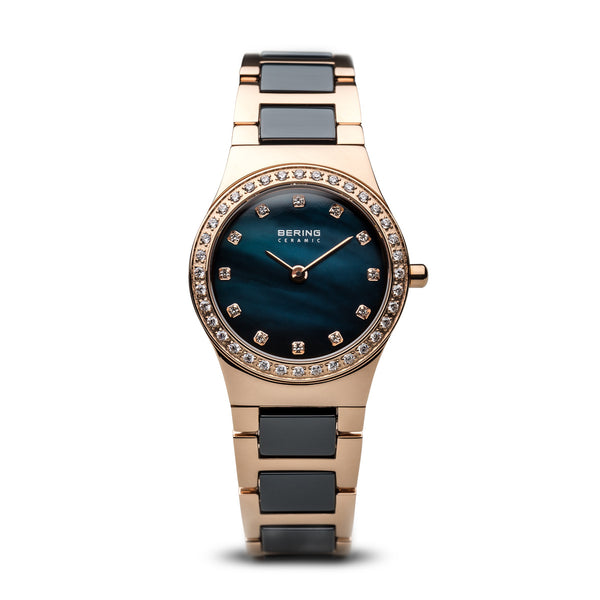 BERING Ceramic Slim Watch With Scratch Resistant Sapphire Crystal 32426-767. Designed In Denmark