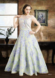 Beautiful Blossoms Silk Embroidered Indo-Western Anarkali Gown