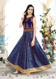 Romantic Garden Dream Silk Embroidered Indo-Western Anarkali Gown
