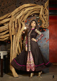 Long Black Shimmer Long Anarkali by Shilpa Shetty (6010)