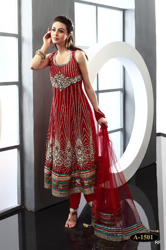 Exclusive Red Anarkali