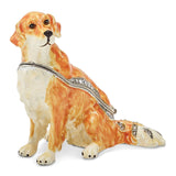 Bejeweled Golden Retriever Trinket Box