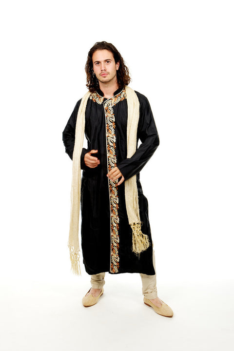 Men in Black Sherwani Kurta Pajama Size 40
